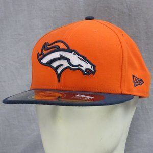Denver Broncos New Era Fitted Hat 7 3/4 NFL